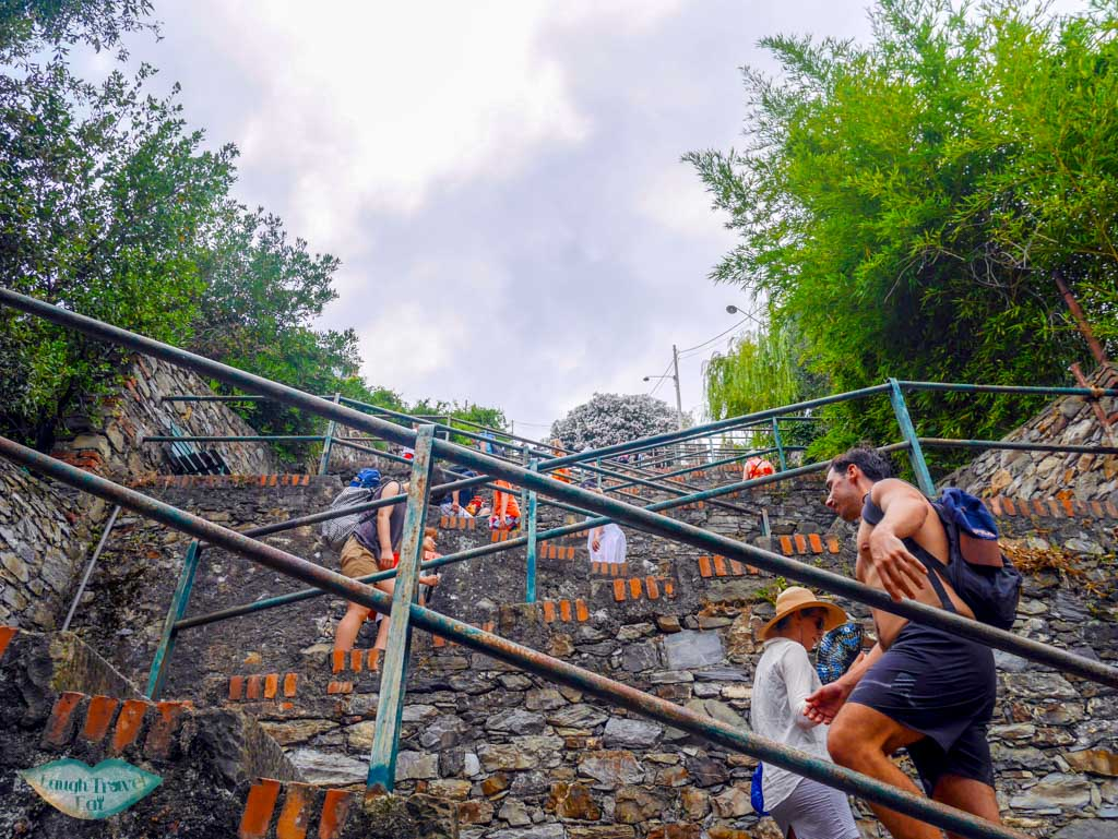 switchback stairs up to corniglia cinque terre italy | Laugh Travel Eat