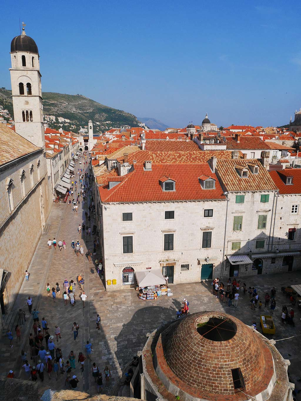 view of dubrovnik from city wall, Croatia | Laugh Travel Eat