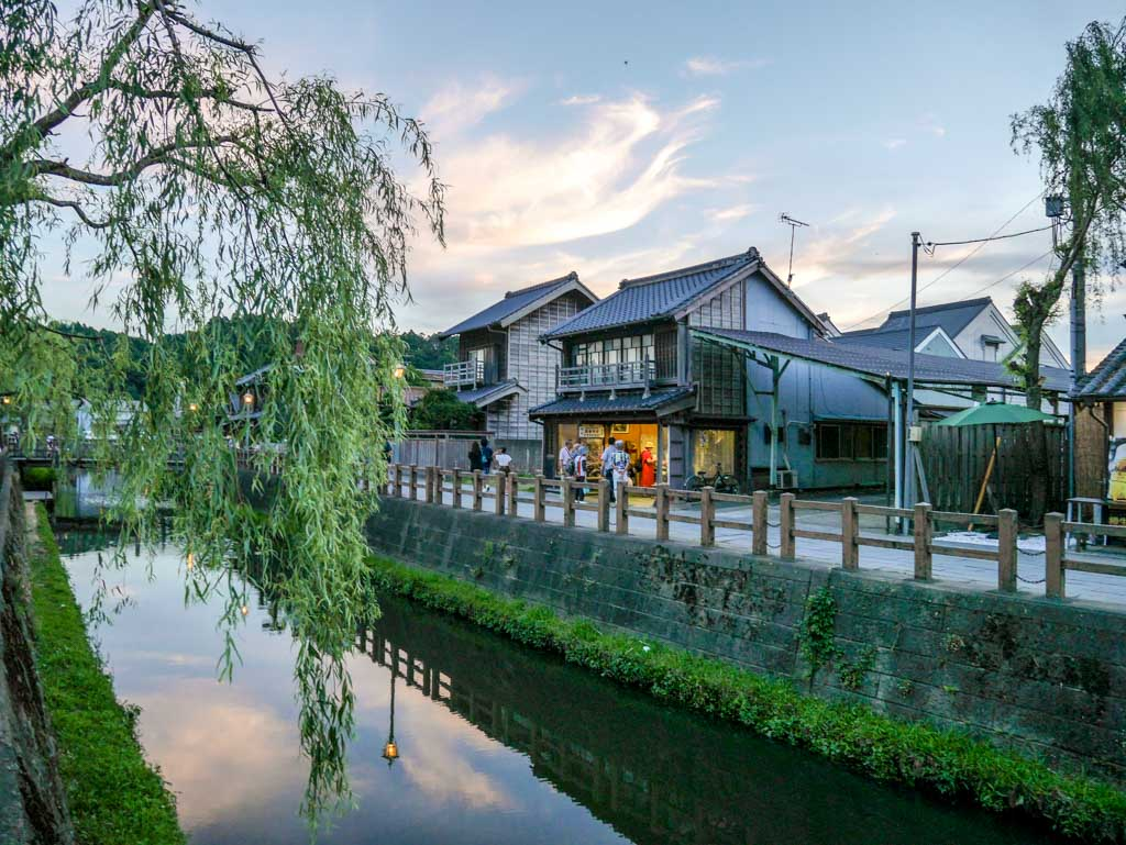 Sawara canal at twilight chita japan