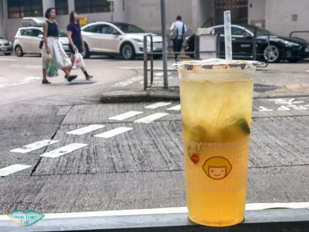 freshly squeezed lemon tea happy lemon hong kong - Laugh Travel