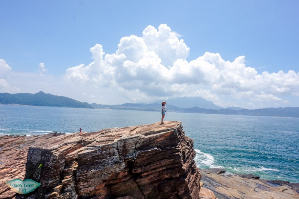 me on second watch tower rock kang lau shek Tung Ping Chau hong kong horizontal