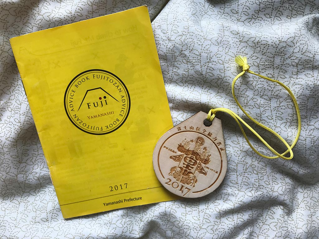 mount fuji fund booklet and wooden, Japan | Laugh Travel Eat