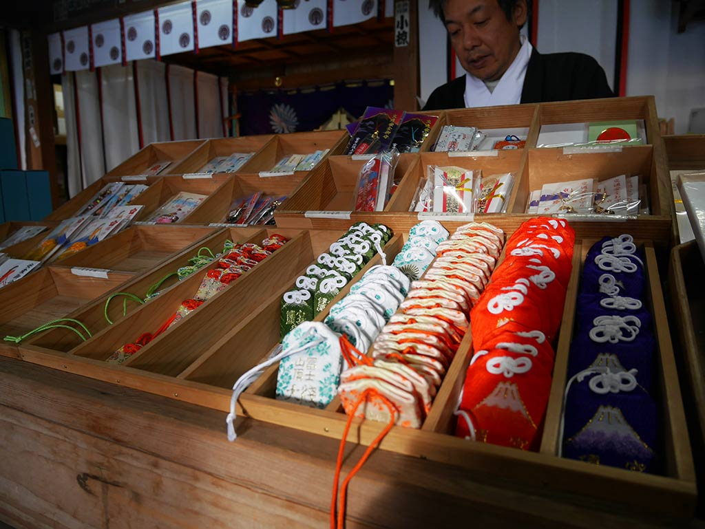 charms in shrine atop mount fuji, Japan | Laugh Travel Eat