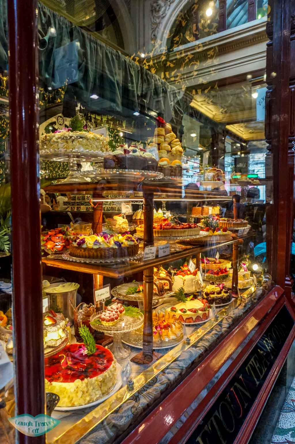 Cake display, Hopetoun Tea Rooms, Royal Arcade, Melbourne, Australia