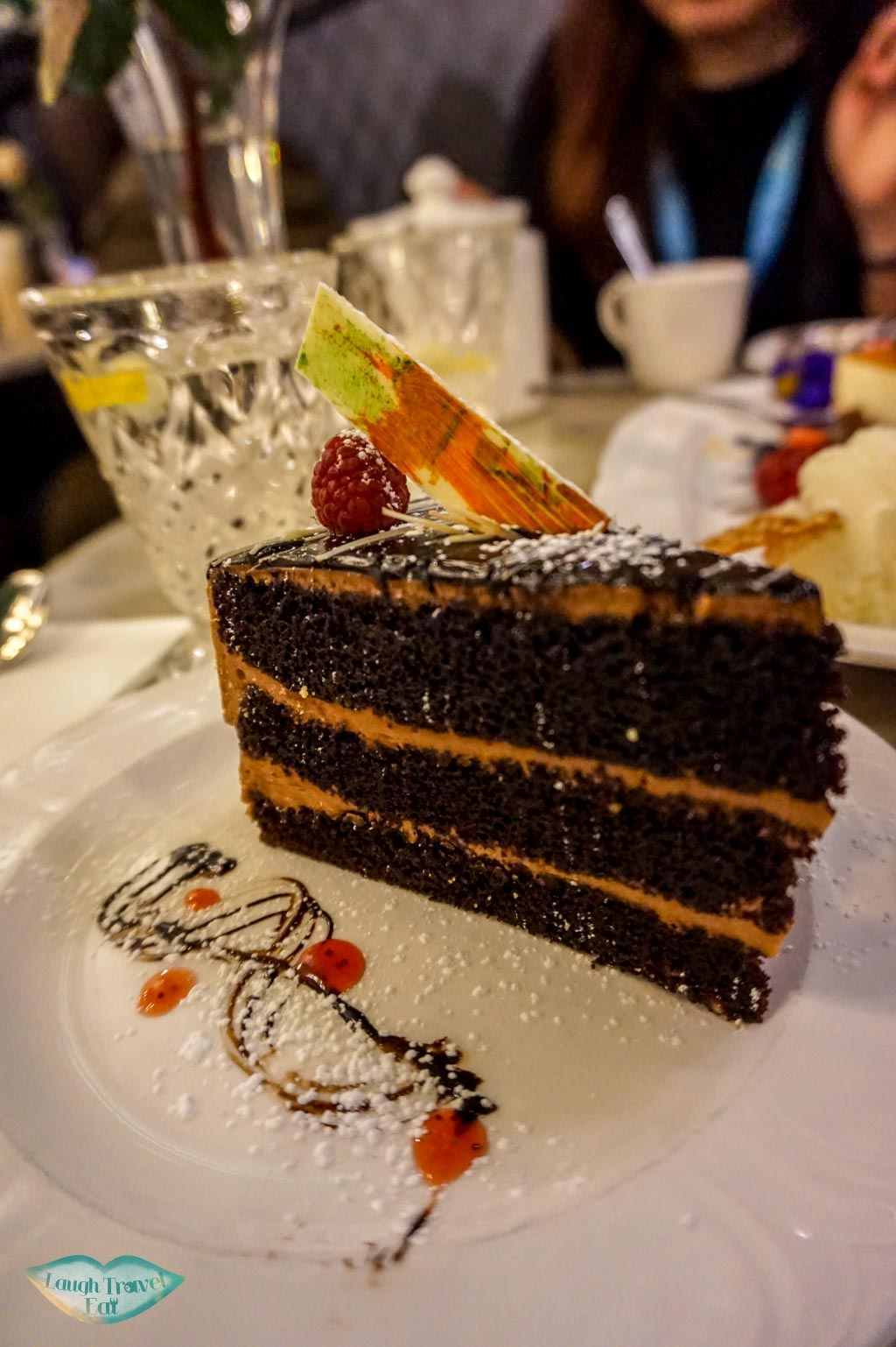 Chocolate cake,Hopetoun Tea Rooms, Royal Arcade, Melbourne, Australia