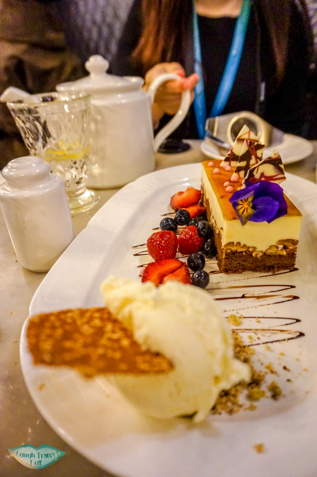 Signature cake, Hopetoun Tea Rooms, Royal Arcade, Melbourne, Australia