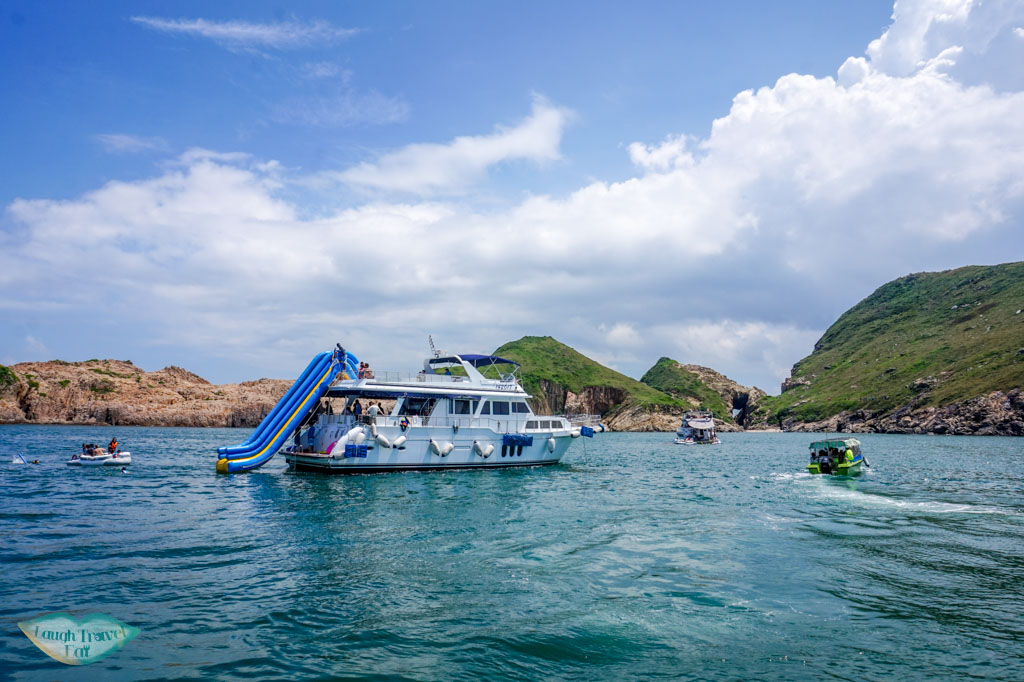 a boat trip at south ninepin island sai kung hong kong - Laugh Travel Eat