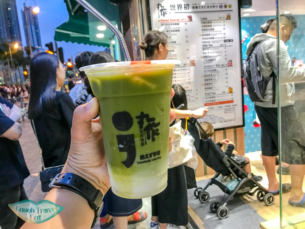 green-tea-latte-at-bubble-tea-work-hong-kong-laugh-travel-eat