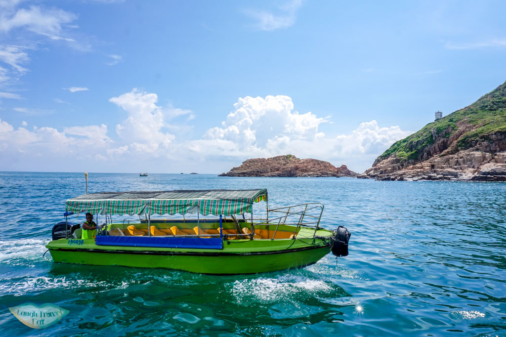 smaller boat for transport to ninepin island sai kung hong kong - Laugh Travel Eat