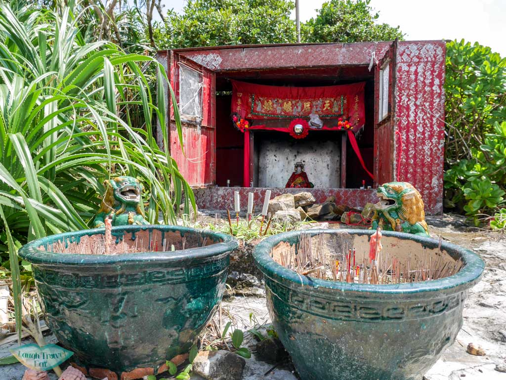 smallest tin hau temple south ninepin island sai kung hong kong - Laugh Travel Eat