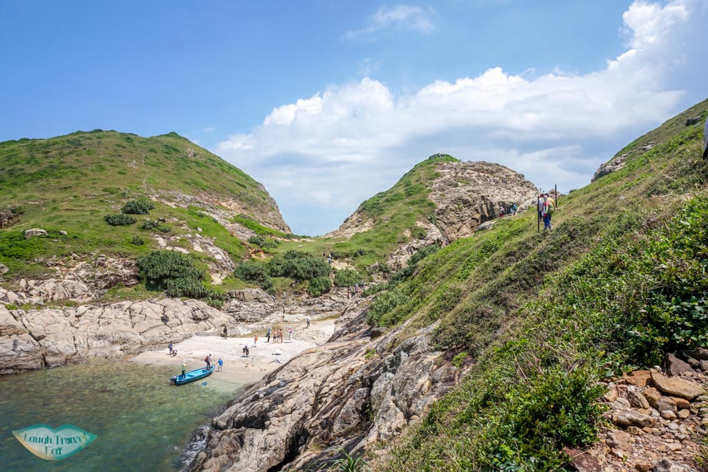 view of beach at south ninepin island sai kung hong kong - Laugh Travel Eat