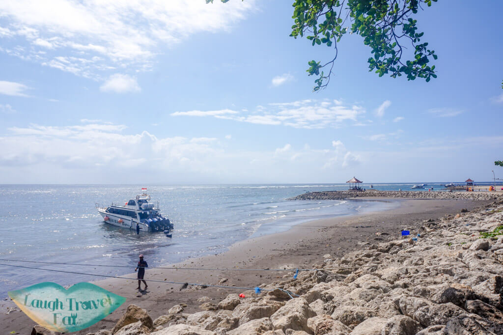 Ferry at Sanur to Nusa Penida Bali Indonesia - Laugh Travel Eat