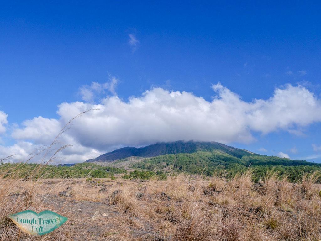 Mount Batur from afar bali indonesia - laugh travel eat