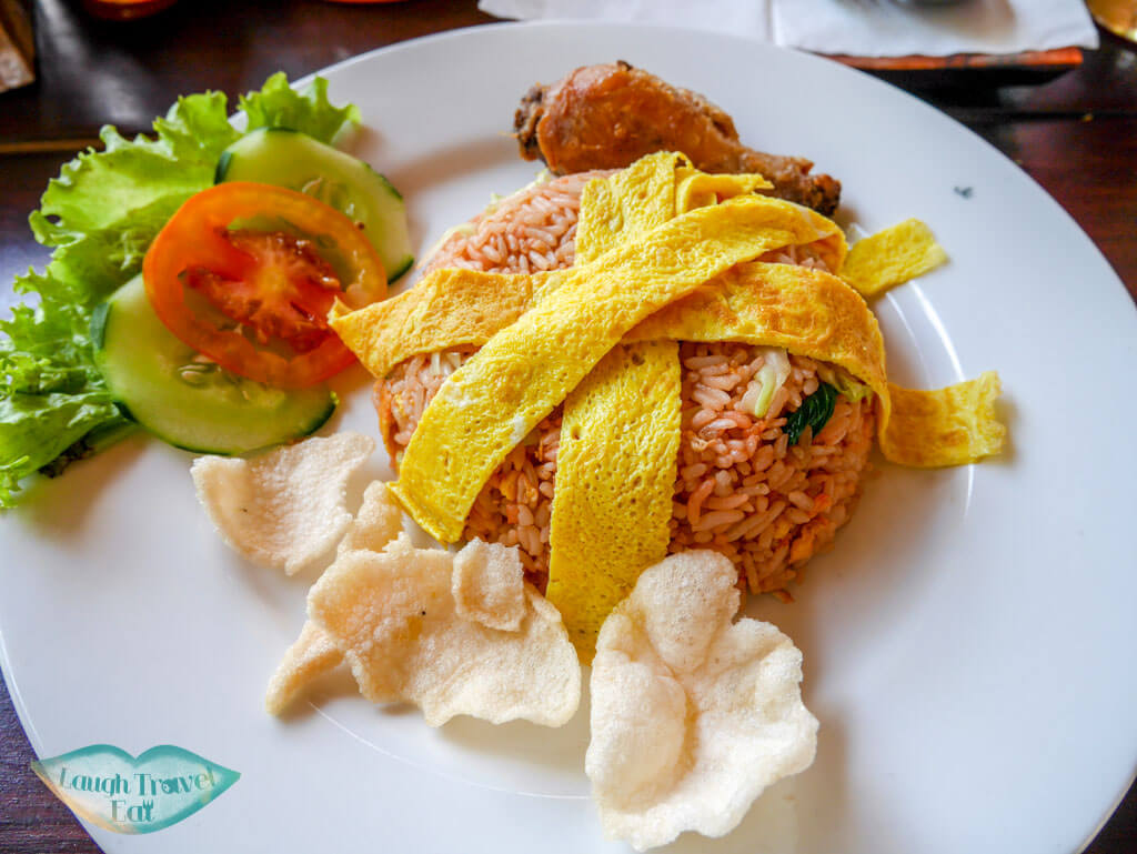 Nasi Goreng at Warung NG Nusa Penida Bali Indonesia - Laugh Travel Eat