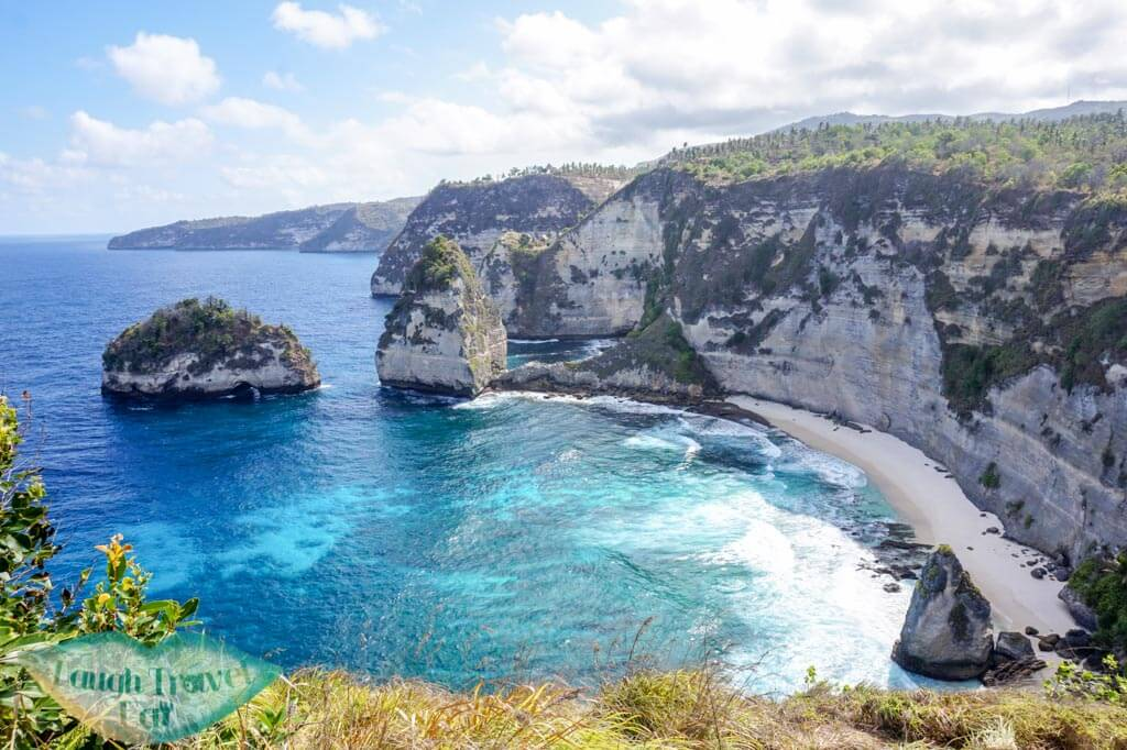 beach adjacent Atuh beach on the ground Nusa Penida Bali Indonesia - Laugh Travel Eat