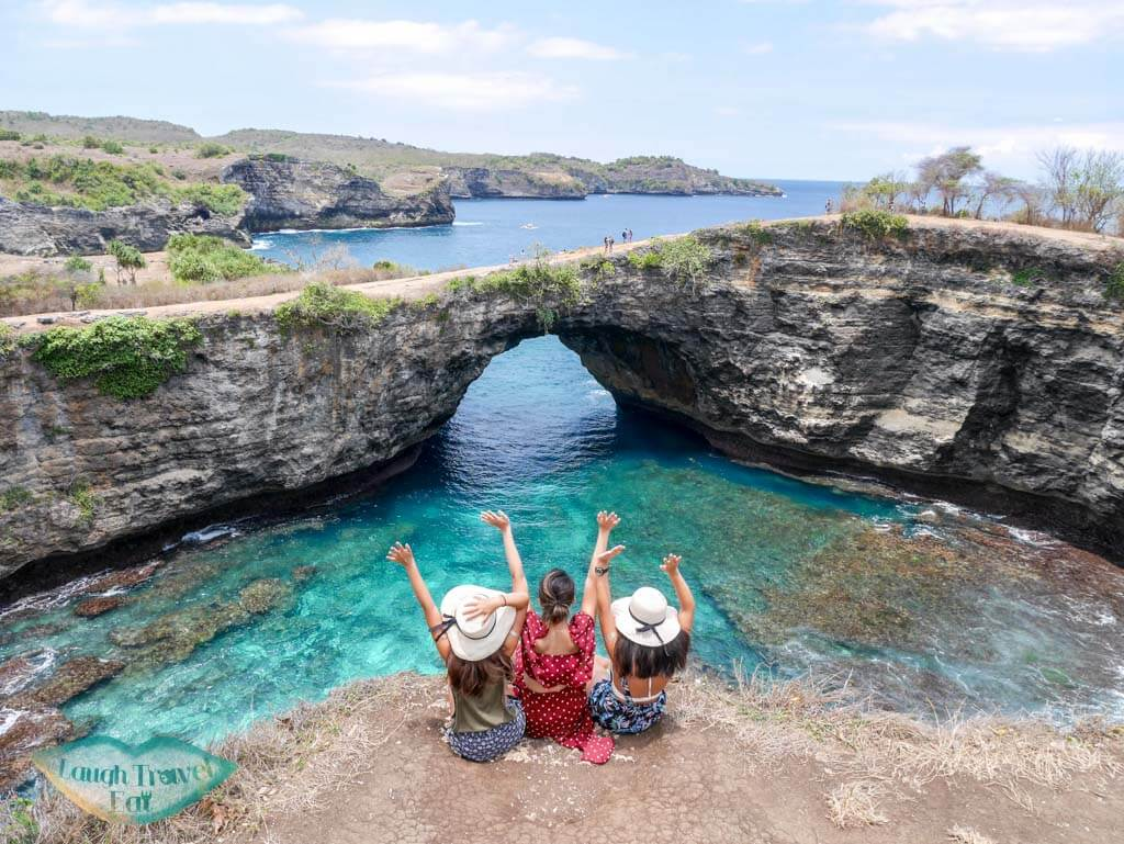 broken beach nusa penida bali indonesia = laugh travel eat