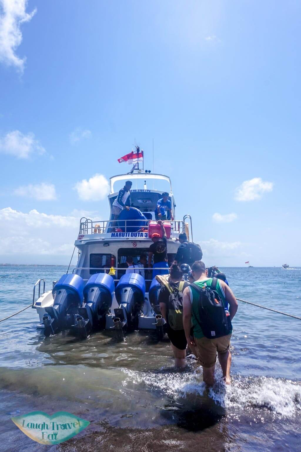 fast ferry to Nusa Penida Bali Indonesia - Laugh Travel Eat