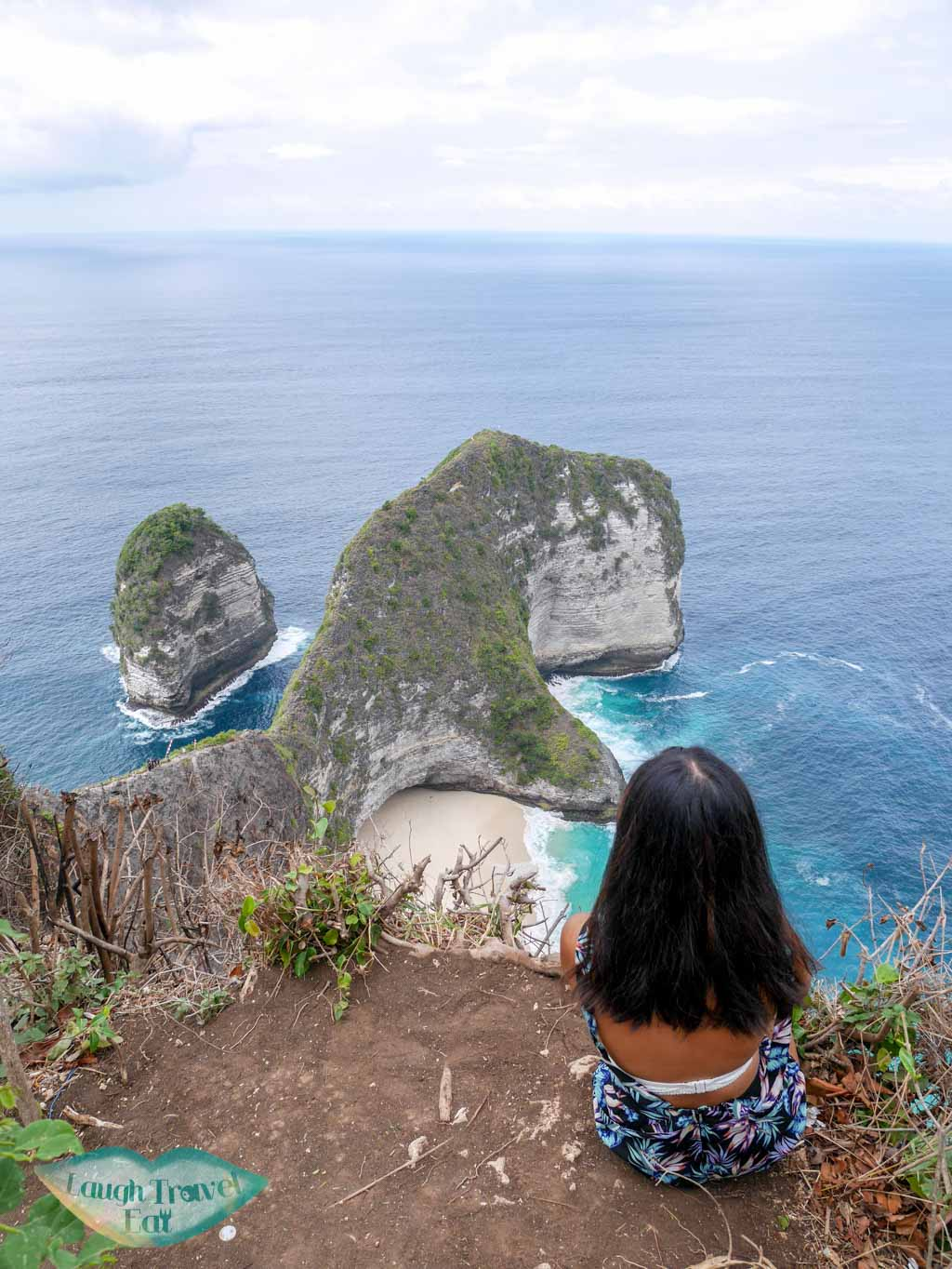first view point of Kelingking beach Nusa Penida Bali Indonesia - Laugh Travel Eat