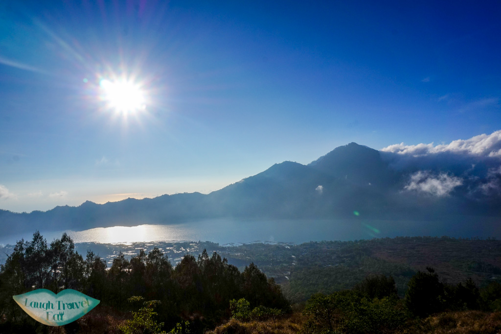 lake view from mount batur bali indonesia - laugh travel eat
