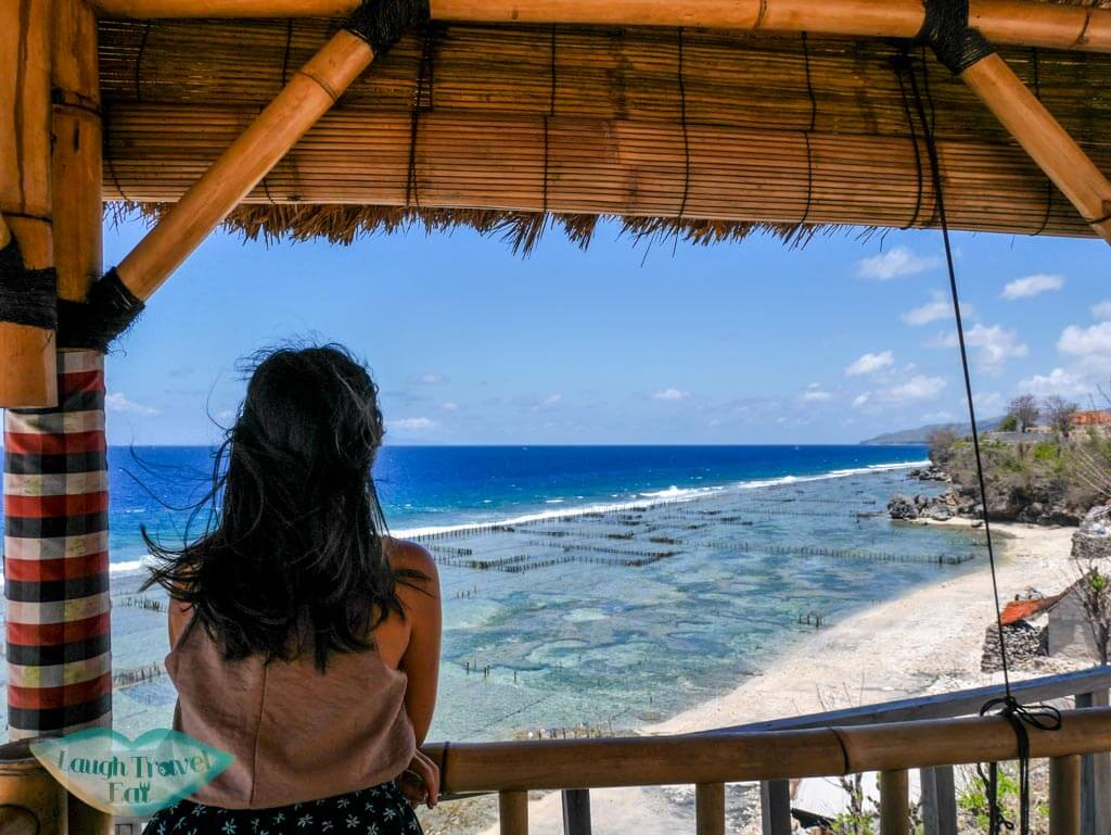 me at Warung Makan Boga Segara sea view Nusa Penida Bali Indonesia - Laugh Travel Eat