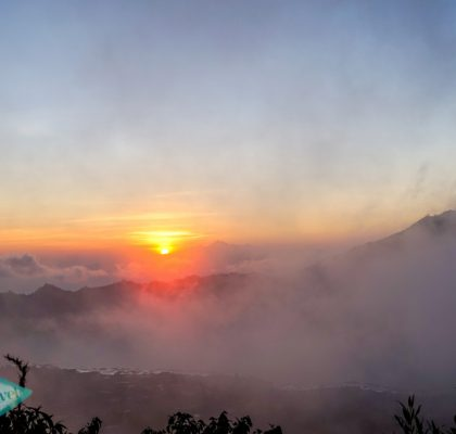 sunrise atop Mount Batur bali indonesia - laugh travel eat
