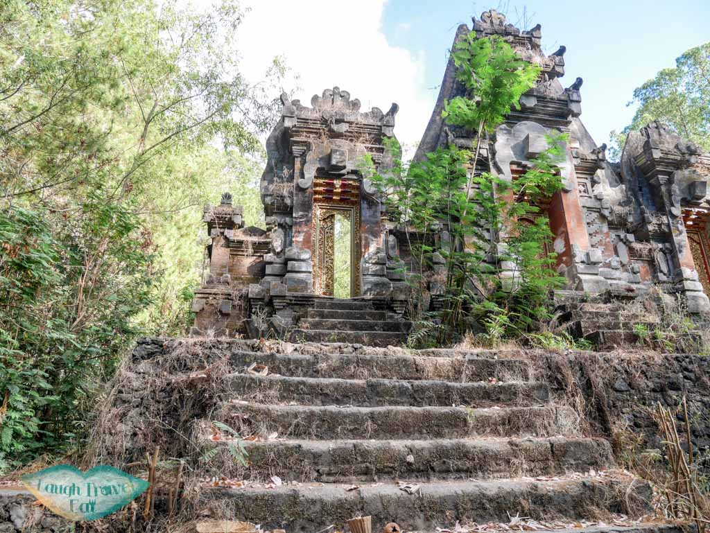 temple on the way up to Mount Batur bali indonesia - laugh travel eat