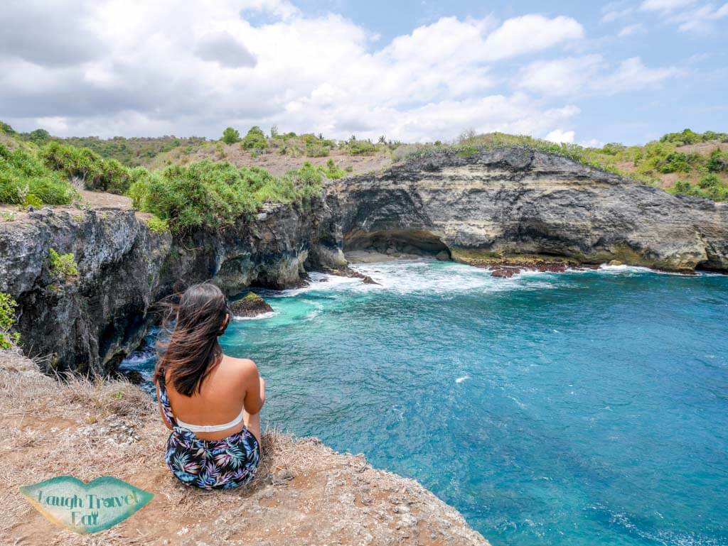 the beach adjacent to broken beach at Nusa Penida Bali Indonesia - Laugh Travel Eat