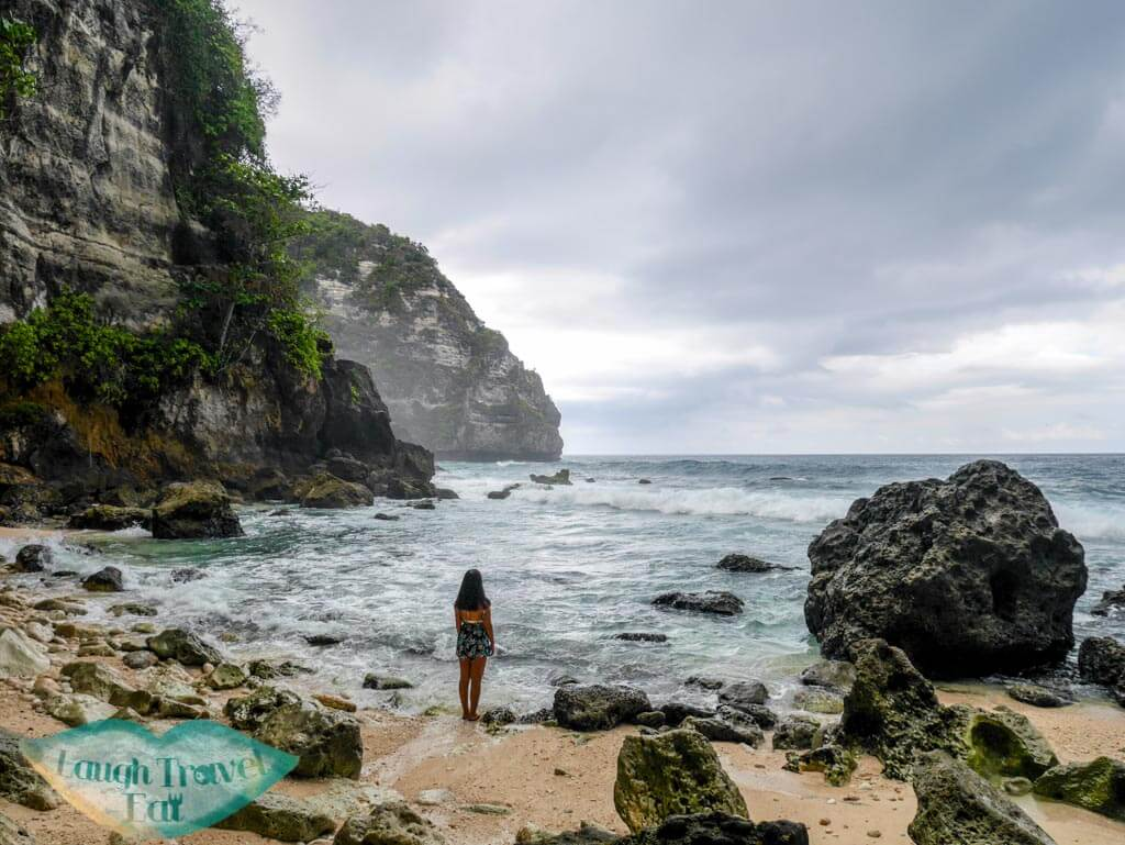 the very atmospheric tembeling forest and beach Nusa Penida Bali Indonesia - Laugh Travel Eat