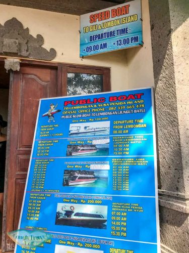 ticket office maruti express to Nusa Penida Bali Indonesia - Laugh Travel Eat