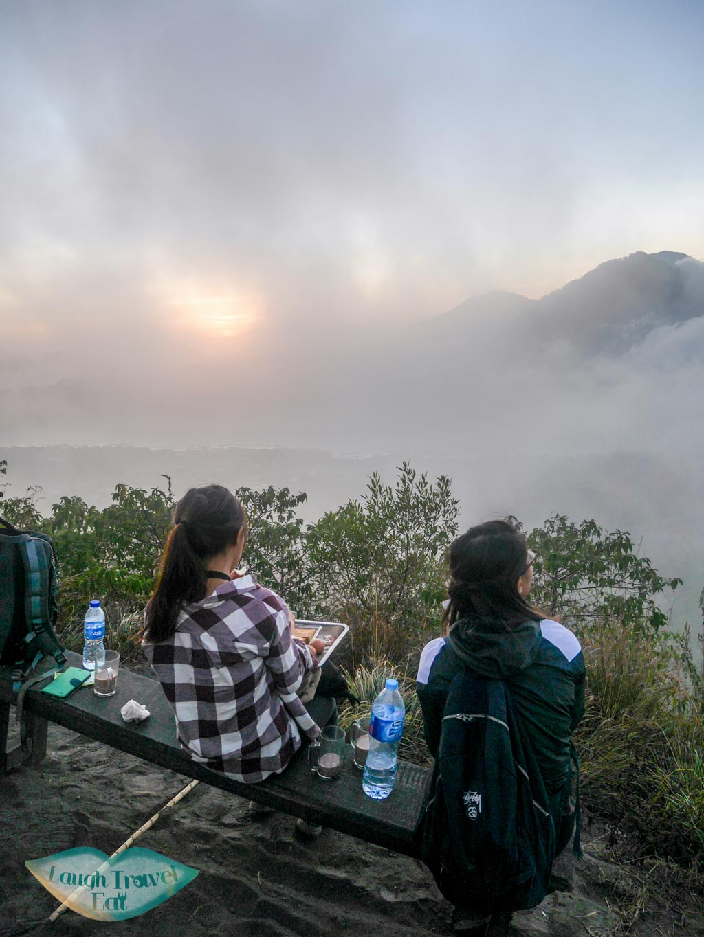 waiting for sunrise on top of Mount Batur bali indonesia - laugh travel eat