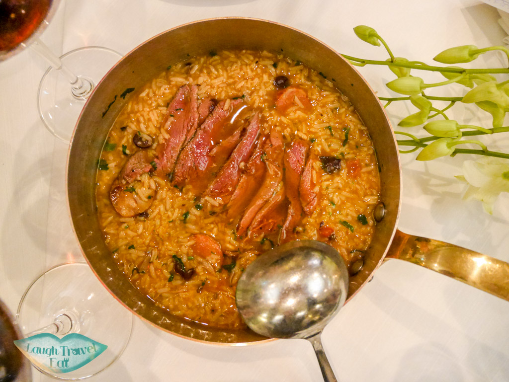 blood duck rice st rest regis hotel macau - laugh travel eat