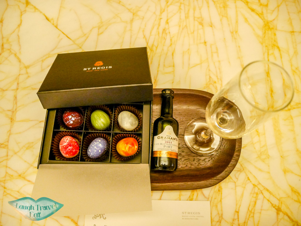 chocolate and port turn down service st regis hotel macau