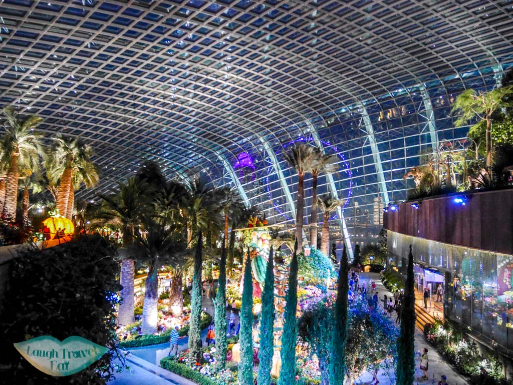 flower dome gardens by the baysingapore - laugh travel eat