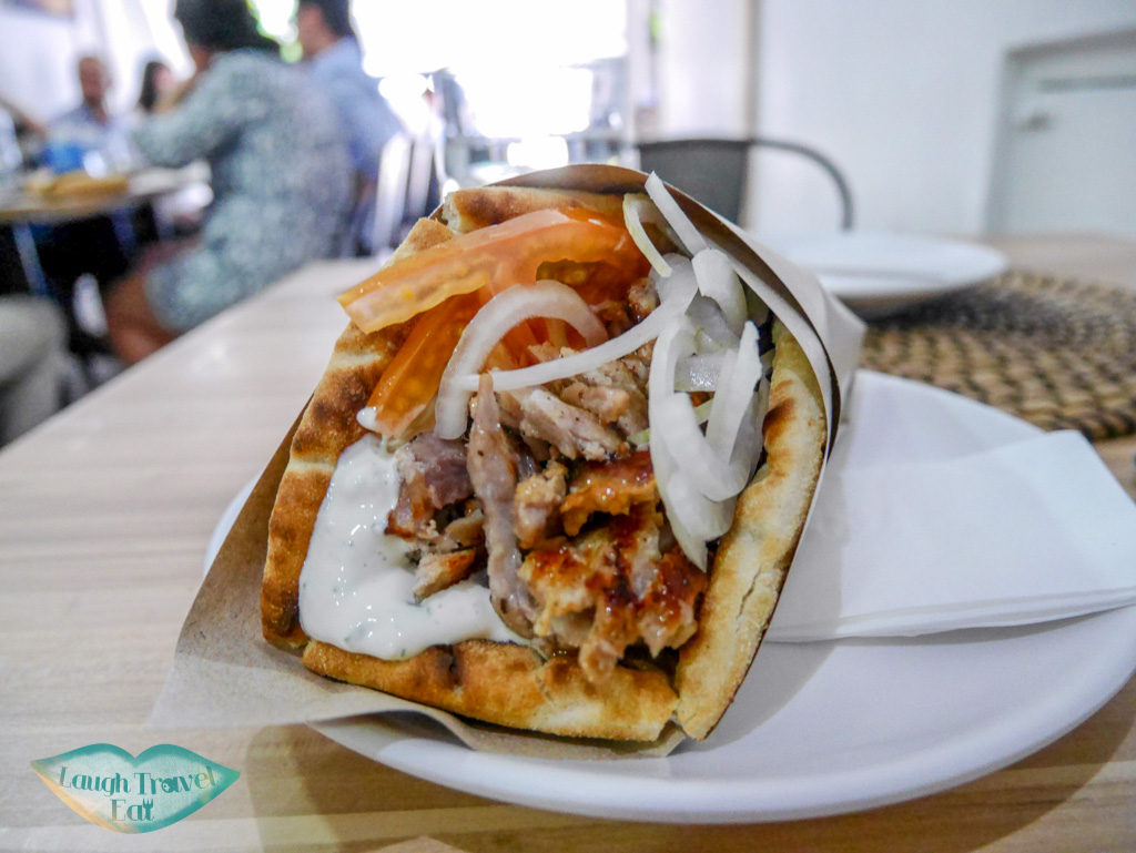 gyros pita at gyromania singapore - laugh travel eat