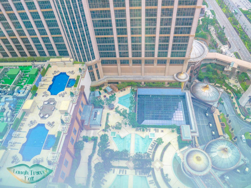 view of the pool st regis hotel macau - laugh travel eat