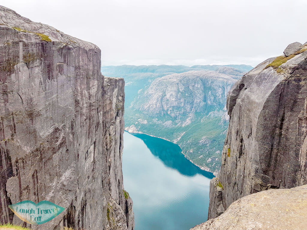 view at kjeragbolten hike norway europe | Laugh Travel Eat