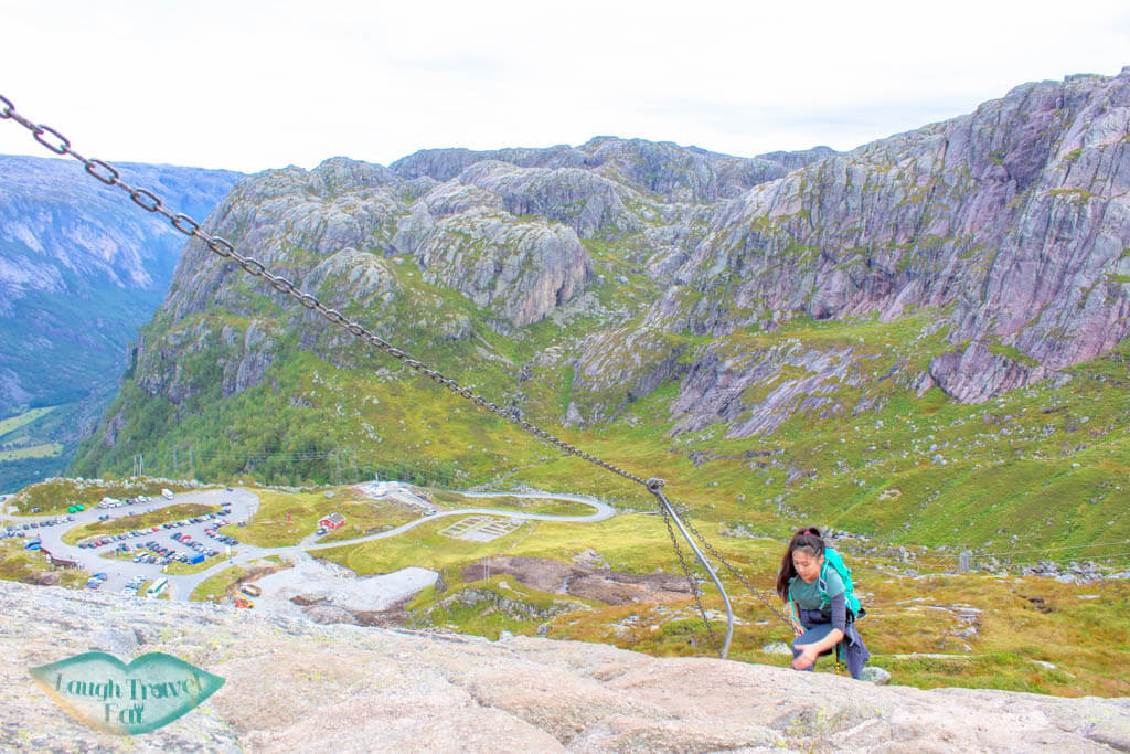 Chains on kjeragbolten hike norway europe | Laugh Travel Eat