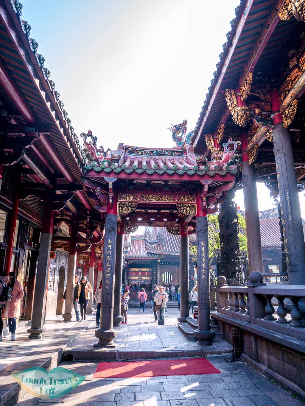 inside lungshan temple taipei taiwan - laugh travel eat