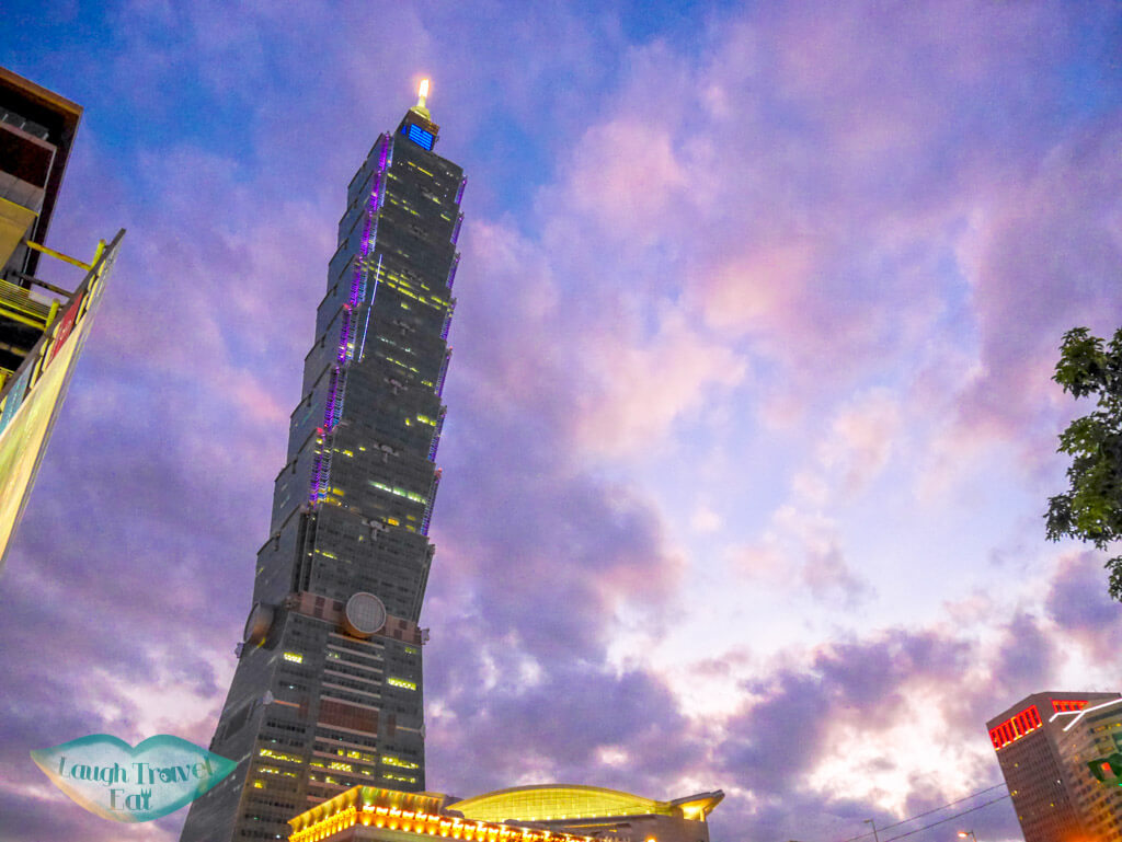 Taipei 101 during sunset, Taiwan | Laugh Travel Eat