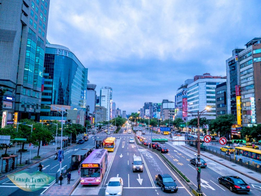 traffic in taipei taiwan - laugh travel eat