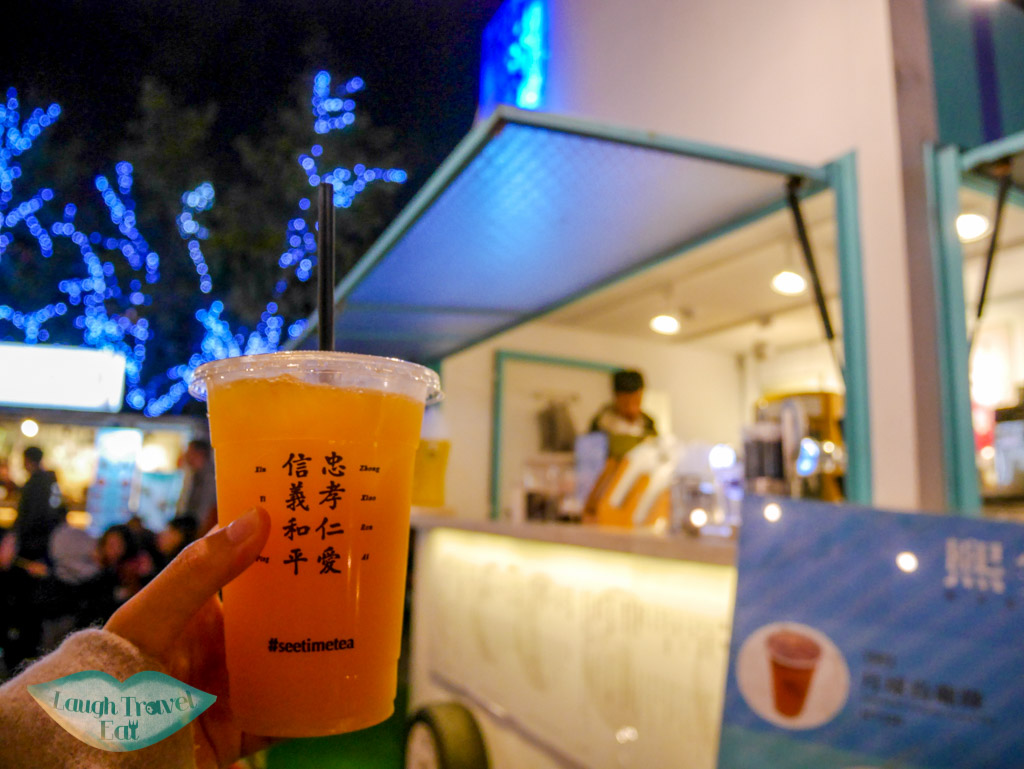 bubble tea at commune a7 taipei taiwan - laugh travel eat