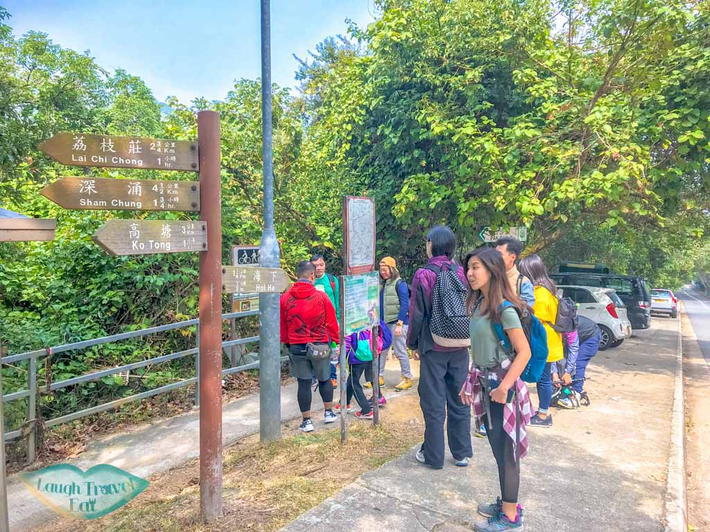 trail start pak sha o sai kung hong kong- laugh travel eat