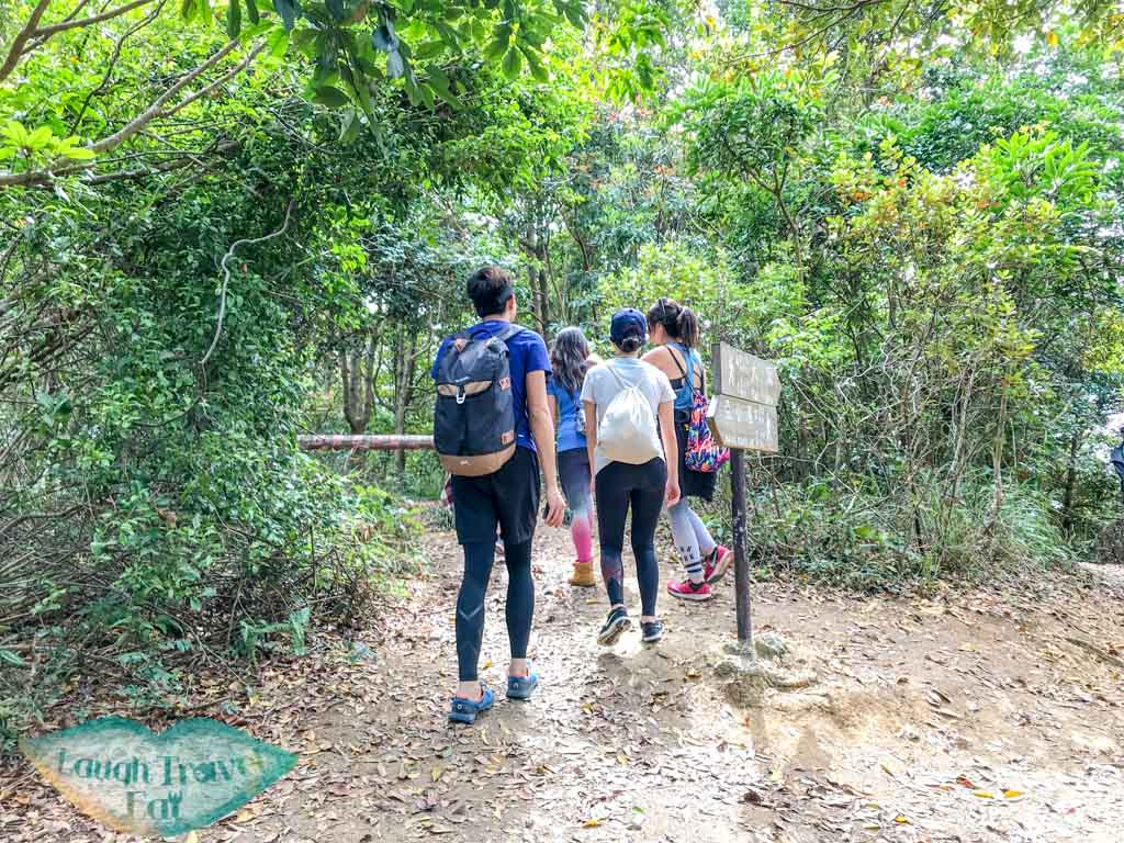 easy to miss junction at high junk peak trail start hong kong- laugh travel eat