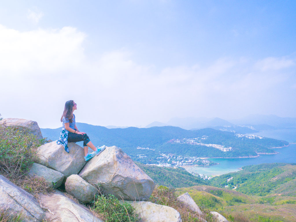me on a rock tai tun leng lung ha wan country trail hong kong- laugh travel eat
