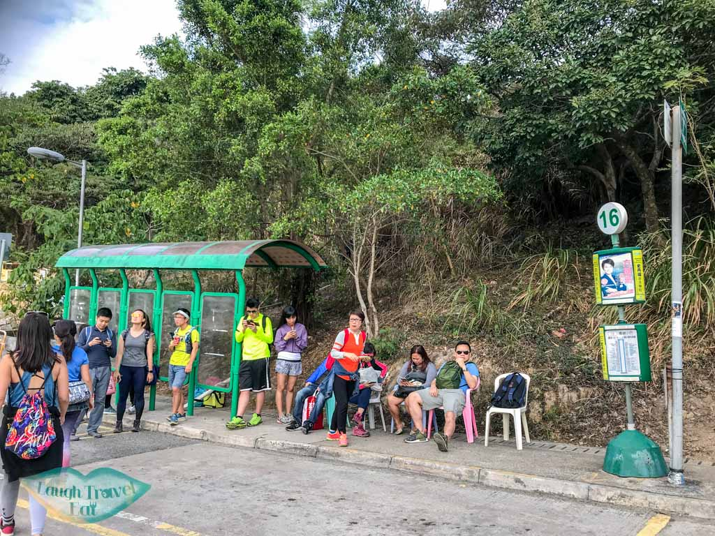 minibus stop at po toi o village hong kong- laugh travel eat