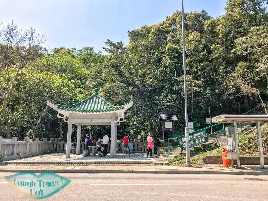 ng fai tin stop high junk peak trail start hong kong- laugh travel eat