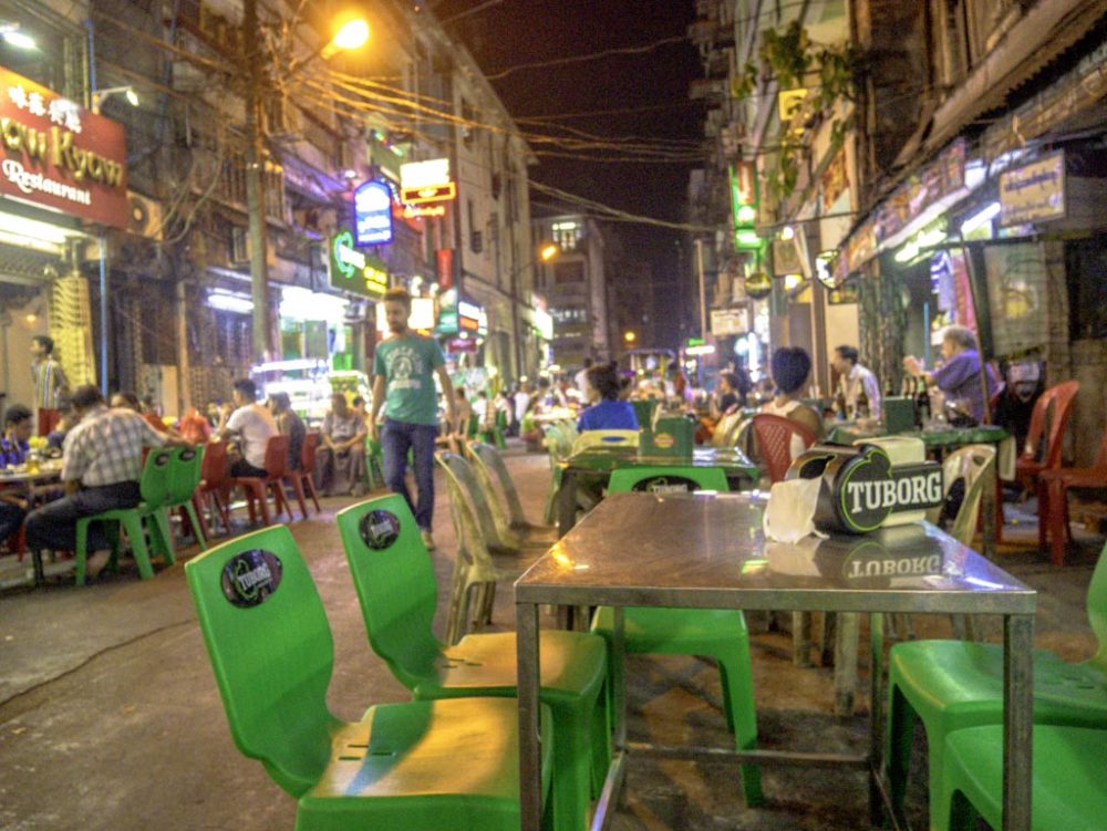 19th street with saba street food tour yangon myanmar - laugh travel eat