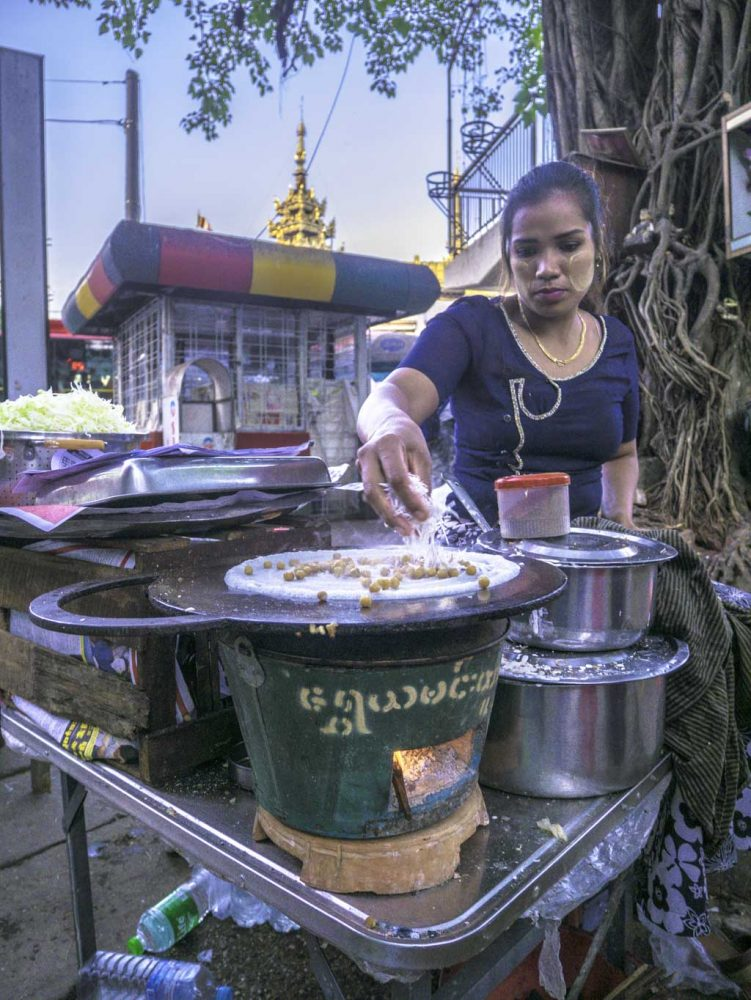 ghost snacks stop sa ba street food tour yangon myanmar - laugh travel eat
