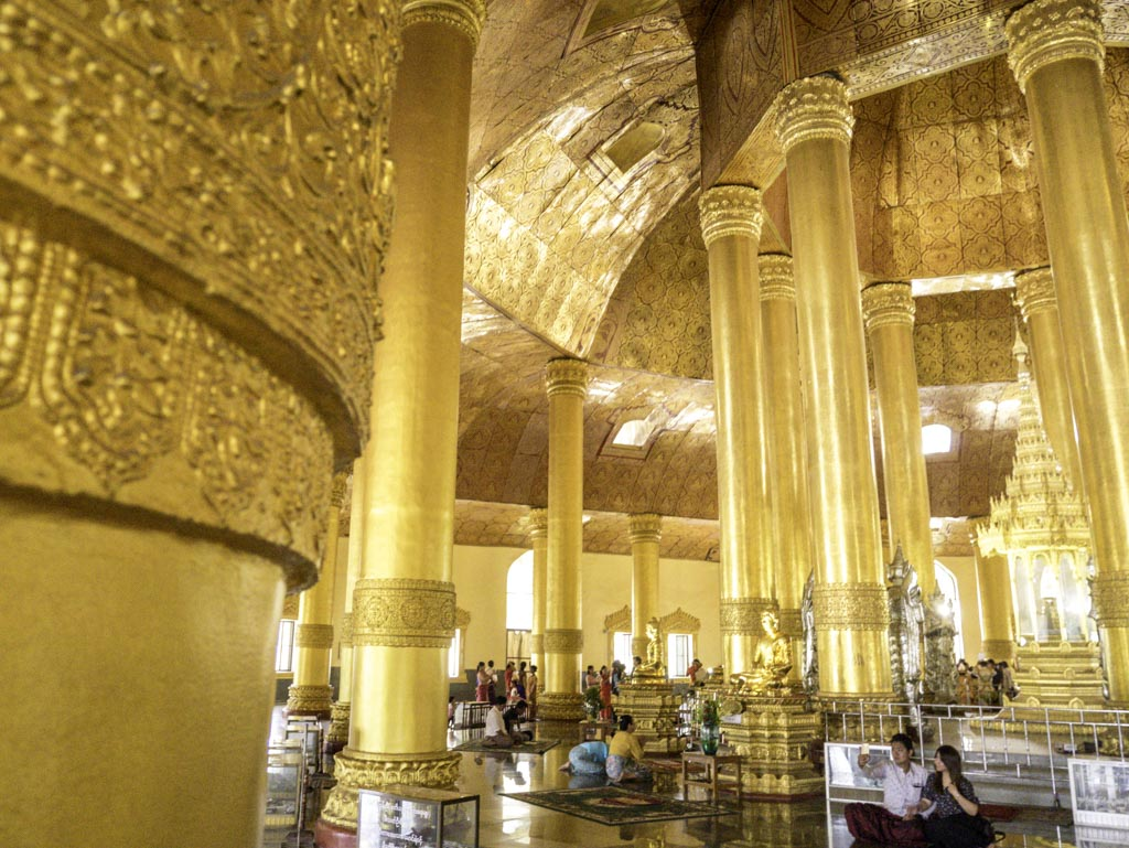inside tooth relic pagoda yangon myanmar - laugh travel eat