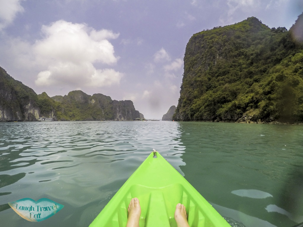 kayaking excursion paradise elegance halong bay vietnam - laugh travel eat